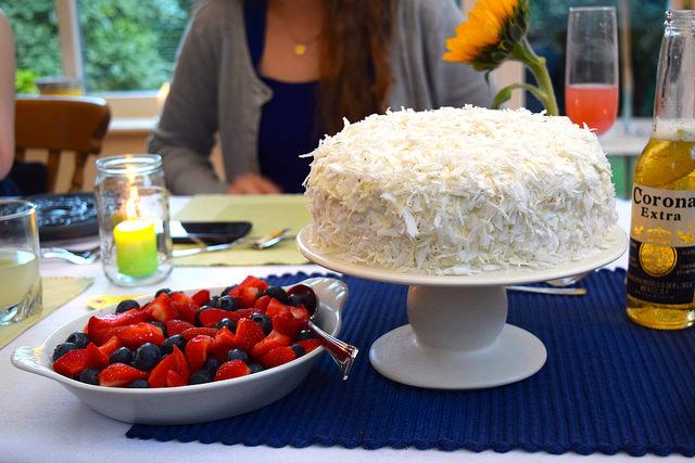 Fresh Coconut Cake | www.rachelphipps.com @rachelphipps