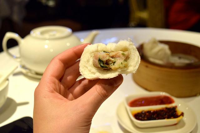 Steamed Chicken and Mushroom Buns at Royal China, Baker Street | www.rachelphipps.com @rachelphipp
