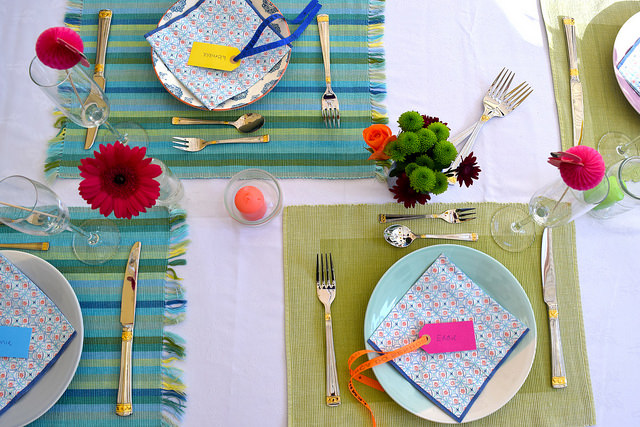 Brazilian Dinner Party Table Settings | www.rachelphipps.com @rachelphipps