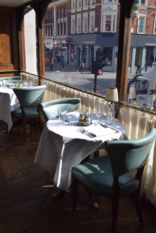 Window Table at Cafe Monico, Soho | www.rachelphipps.com @rachelphipps