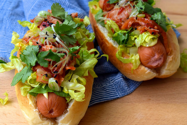 Korean Hotdogs for Bonfire Night | www.rachelphipps.com @rachelphipps