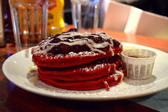 Red Velvet Pancakes at The Diner, Soho | www.rachelphipps.com @rachelphipps