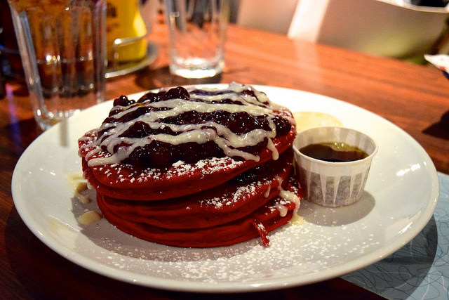 All Day Red Velvet Pancakes at The Diner, Soho | www.rachelphipps.com @rachelphipps