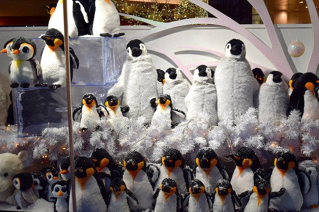 Dancing Penguin Fenwick Christmas Window 2016 | www.rachelphipps.com @rachelphipps