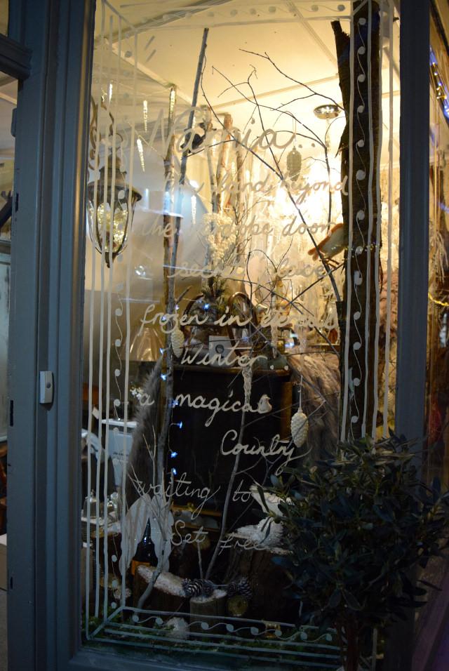 Queen Bee Home Narnia Christmas Window 2016 | www.rachelphipps.com @rachelphipps