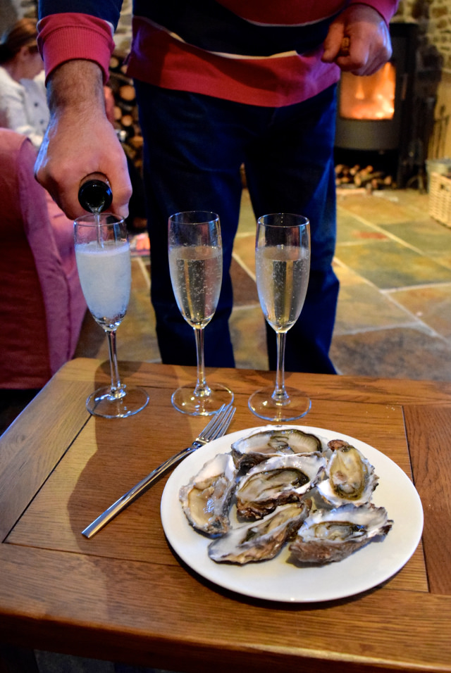 Champagne and Local Oysters | www.rachelphipps.com @rachelphipps