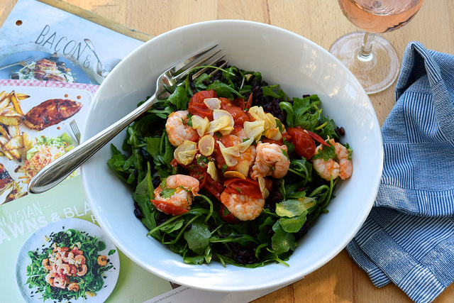Gousto's Andalusian Black Rice & Prawn Salad | www.rachelphipps.com @rachelphipps