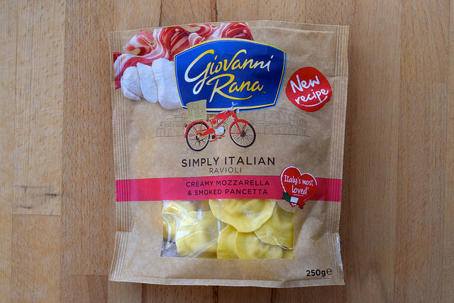 Giovanni Rana Creamy Mozzarella & Smoked Pancetta Ravioli   www.rachelphipps.com @rachelphipps