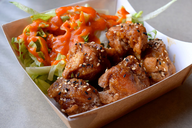 Korean Fried Chicken at Kyoto, Canterbury | www.rachelphipps.com @rachelphipps