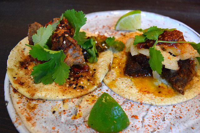Pork & Beef Tacos at Breddos Tacos, Clerkenwell | www.rachelphipps.com @rachelphipps