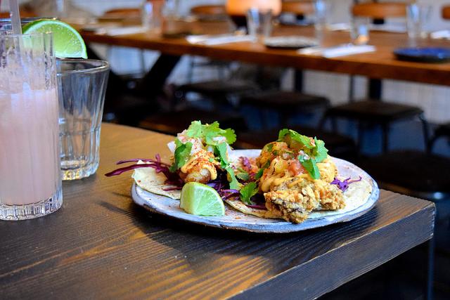 Masa Fried Chicken & Baja Fish Tacos at Breddos Tacos, Clerkenwell | www.rachelphipps.com @rachelphipps