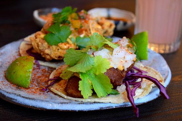 Baja Fish Tacos at Breddos Tacos, Clerkenwell | www.rachelphipps.com @rachelphipps