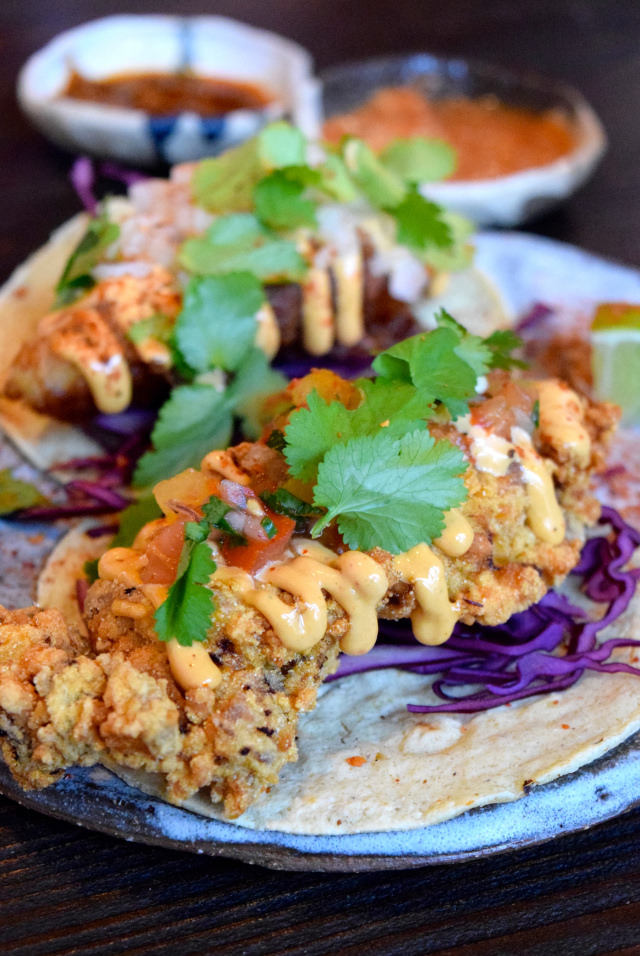 Masa Fried Chicken Tacos at Breddos Tacos, Clerkenwell | www.rachelphipps.com @rachelphipps