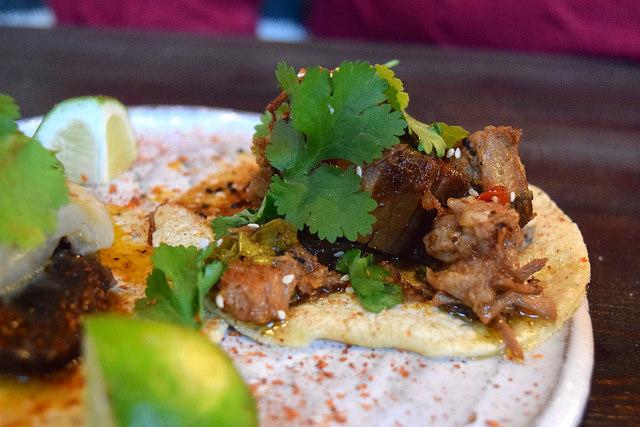 Kung Pao Pork Belly Tacos at Breddos Tacos, Clerkenwell | www.rachelphipps.com @rachelphipps