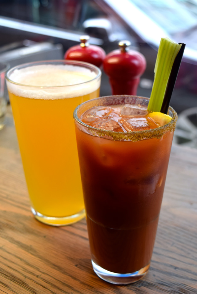 House Bloody Mary at Village East, Bermondsey | www.rachelphipps.com @rachelphipps