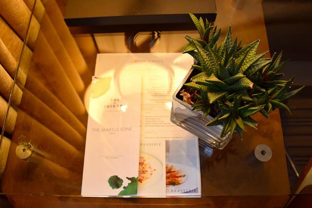 Room Service Menu at The Marylebone Hotel, London | www.rachelphipps.com @rachelphipps