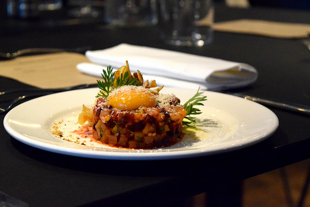 Carrot Tartare with Jersey Royal Game Chips | www.rachelphipps.com @rachelphipps