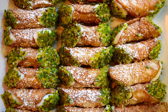 Pistacho Cannoli at Firezza, Soho   www.rachelphipps.com @rachelphipps