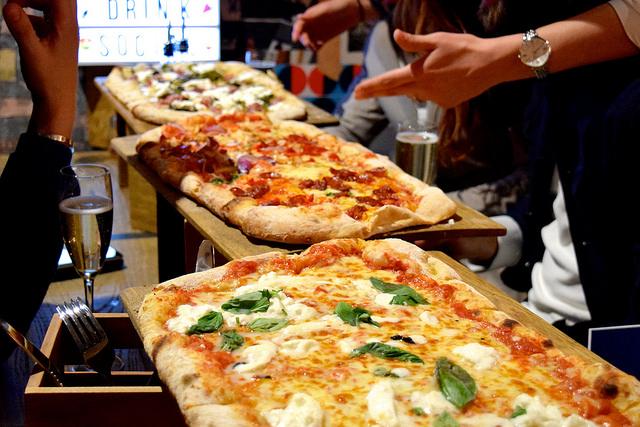 Half Metre Pizza at Firezza   www.rachelphipps.com @rachelphipps