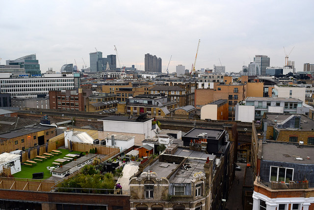 View from the Ace Hotel, Shoreditch | www.rachelphipps.com @rachelphipps