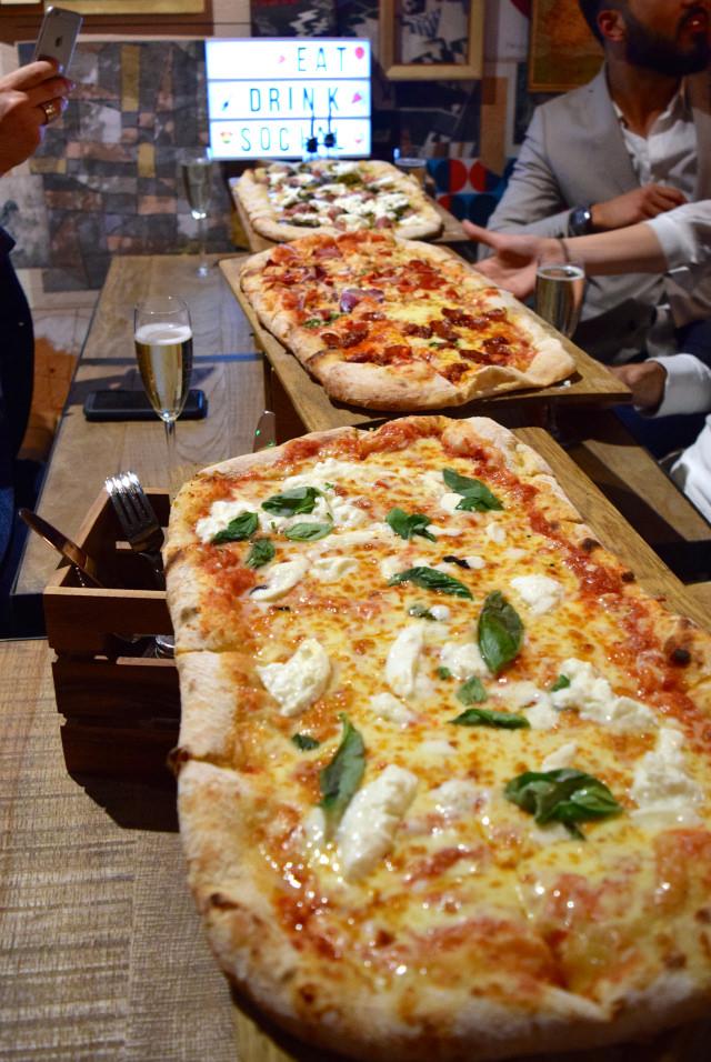 Half Metre Pizza at Firezza, Soho   www.rachelphipps.com @rachelphipps