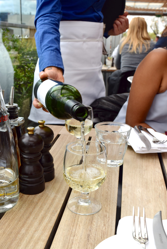 Bottle of White Wine at The Boundary Rooftop, Shoreditch | www.rachelphipps.com @rachelphipps