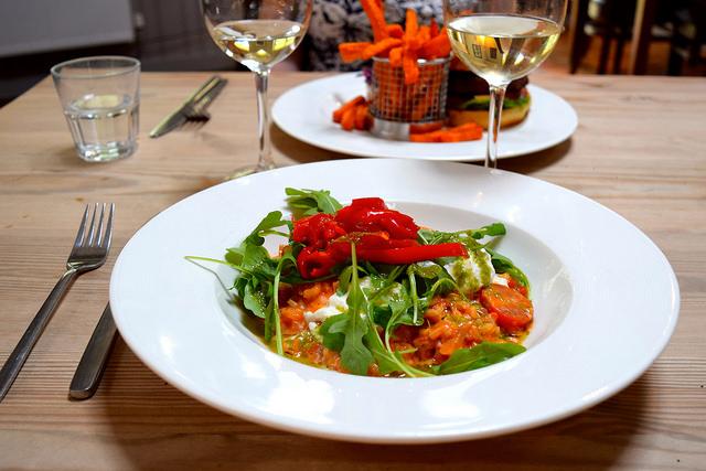 Tomato, Mozzarella, Pesto & Sweet Pepper Risotto at The Granville, Canterbury | www.rachelphipps.com @rachelphipps
