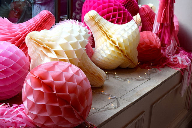 Paper Decorations at Percy Pig's 25th Birthday Party | www.rachelphipps.com @rachelphipps