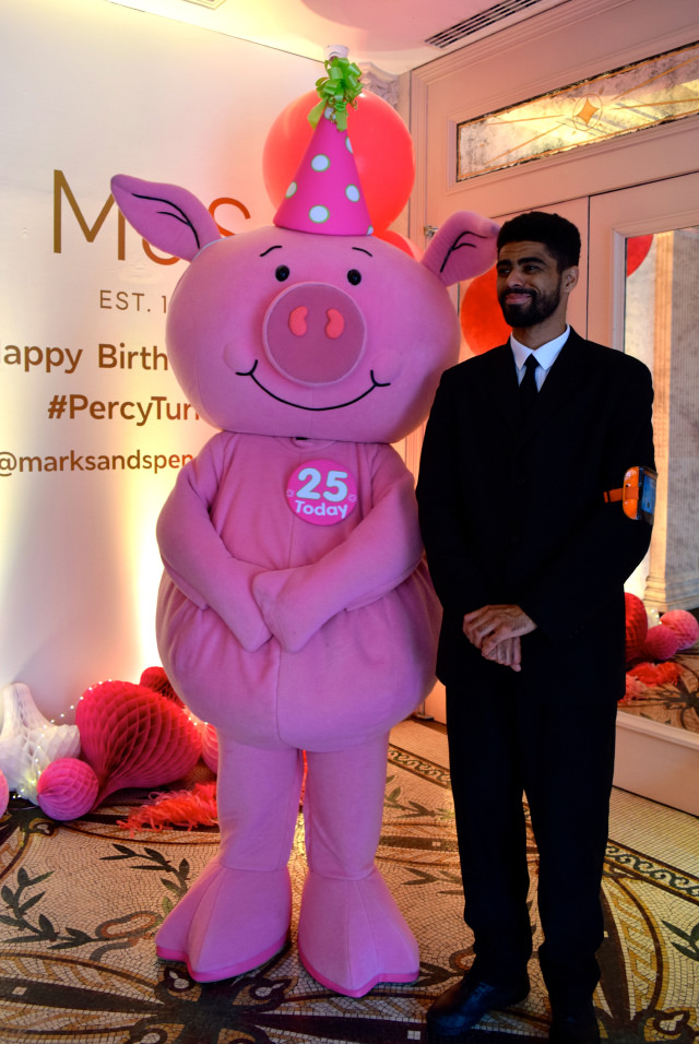 Percy Pig at his 25th Birthday Party | www.rachelphipps.com @rachelphipps