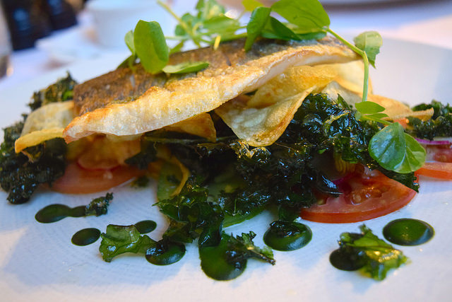 Sea Bass at The Gun, Docklands