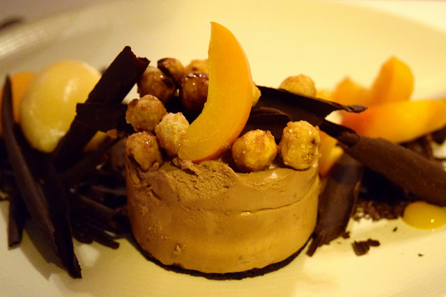Chocolate, Hazelnut & Apricot Mousse at The Gun, Docklands