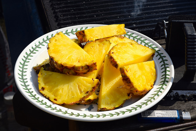 Pineapple Wedges for the Barbecue | www.rachelphipps.com @rachelphipps