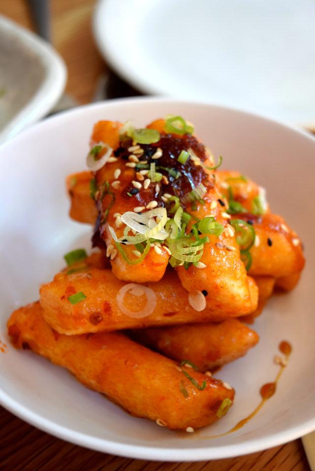 Chilli Rice Cakes at Bo Drake, Soho   www.rachelphipps.com @rachelphipps