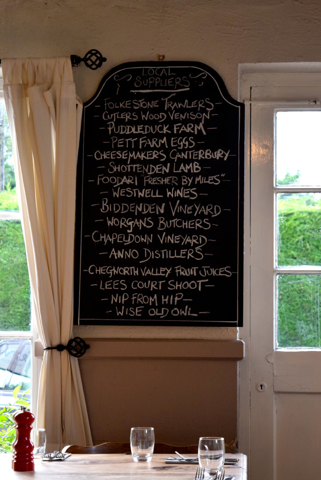 Local Suppliers at The George, Molash