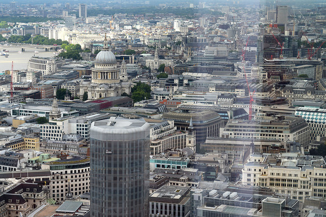 View of St Paul's Cathedral from Duck & Waffle | www.rachelphipps.com @rachelphipps