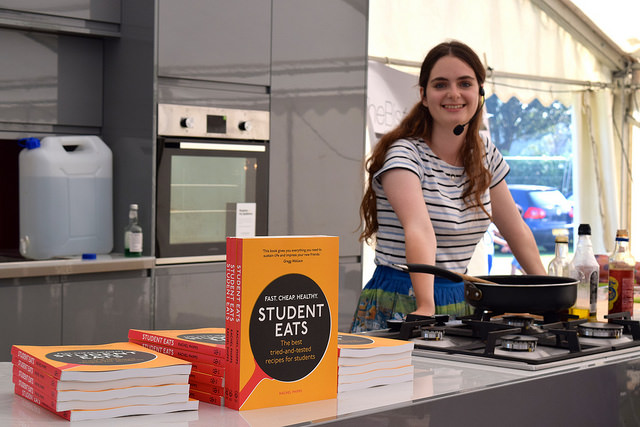 In the Demo Kitchen  at We Love Hythe Food Festival with Student Eats | www.rachelphipps.com @rachelphipps