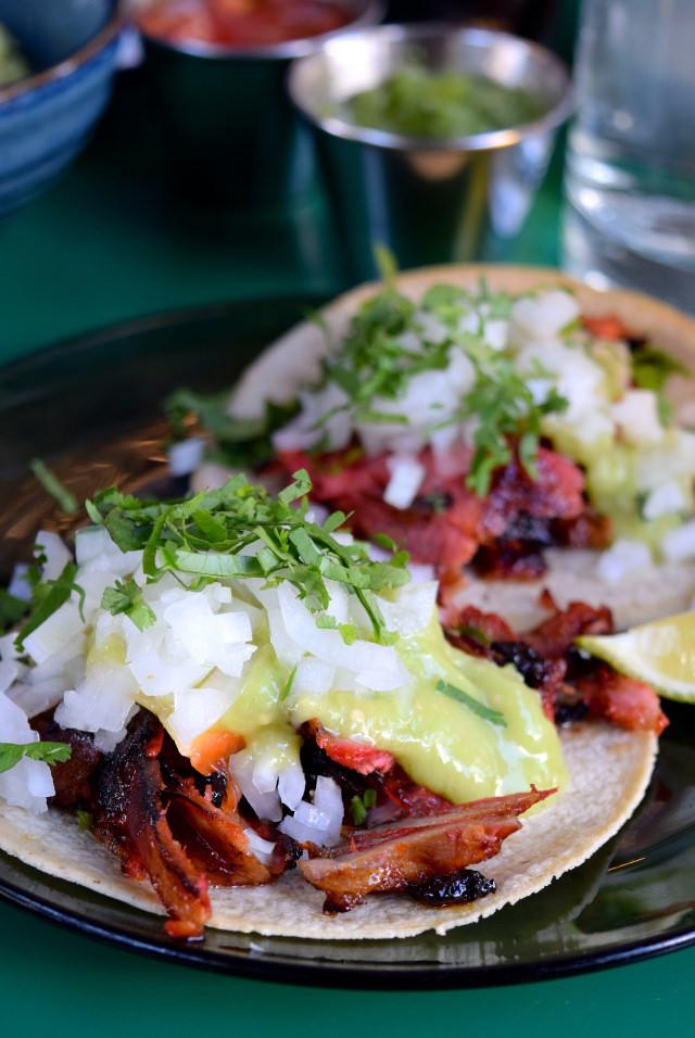 Pork Tacos at El Pastor, Borough Market | www.rachelphipps.com @rachelphipps