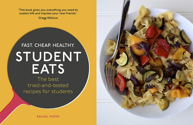 Roasted Summer Vegetable Pasta from Student Eats | www.rachelphipps.com @rachelphipps