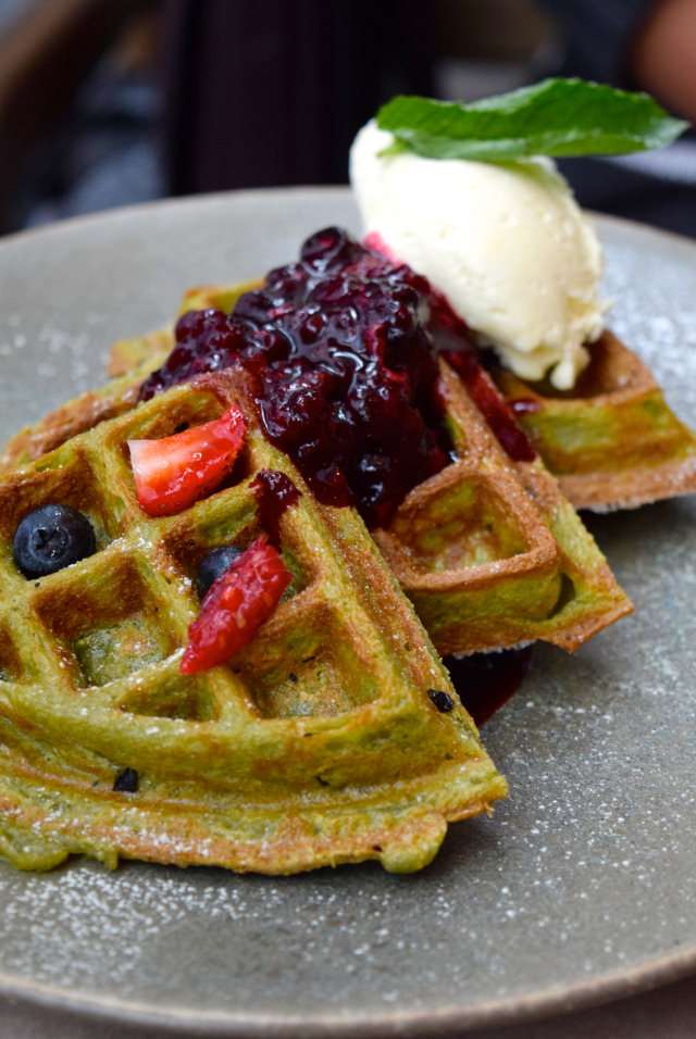 Matcha Waffles at Rail House Cafe, Victoria | www.rachelphipps.com @rachelphipps
