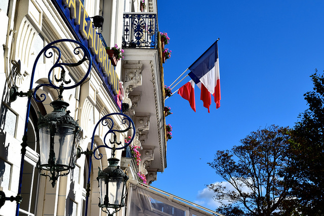French Flags at St. Malo | www.rachelphipps.com @rachelphipps