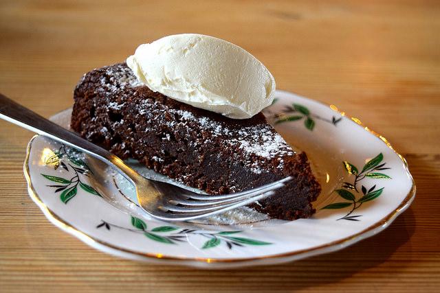 Chocolate Torte at Wild Goose, Canterbury #smallplates #wildgoose #thegoodsshed #canterbury | www.rachelphipps.com @rachelphipps