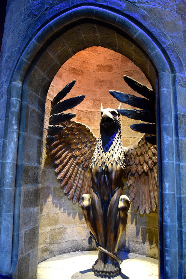 Entrance to Dumbledore's Office at the Harry Potter Studio Tour, London | #harrypotter www.rachelphipps.com @rachelphipps