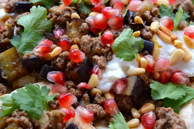 Spicy Middle Eastern Lamb & Aubergine | www.rachelphipps.com @rachelphipps