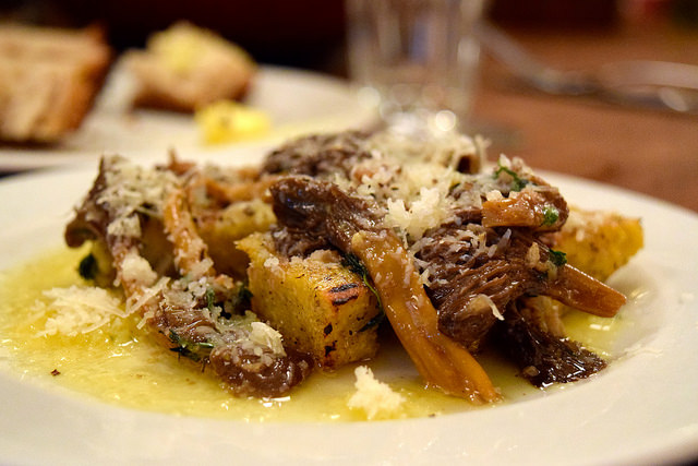 Chanterelles with Buckwheat Polenta at DUCKSOUP, Soho | www.rachelphipps.com @rachelphipps