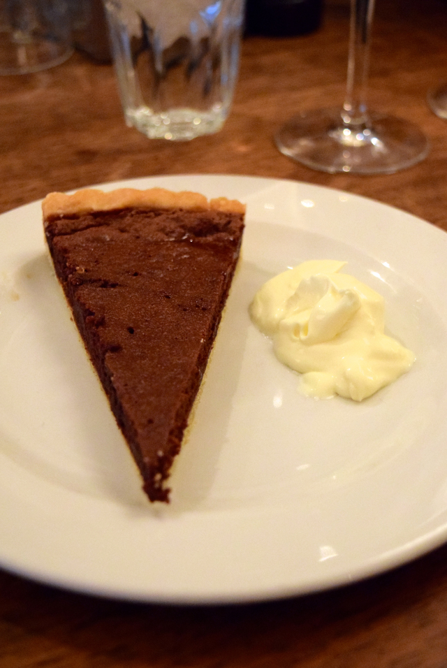 Chocolate Stem Ginger Tart at DUCKSOUP, Soho | www.rachelphipps.com @rachelphipps