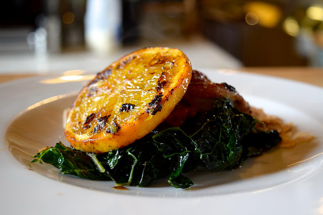 Chicken with Orange, Almond & Cavolo Nero at Wild Goose, Canterbury #smallplates #wildgoose #thegoodsshed #canterbury | www.rachelphipps.com @rachelphipps