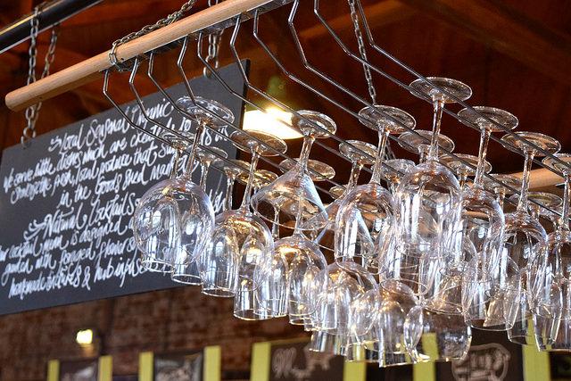 Glasses at Wild Goose, Canterbury #smallplates #wildgoose #thegoodsshed #canterbury | www.rachelphipps.com @rachelphipps