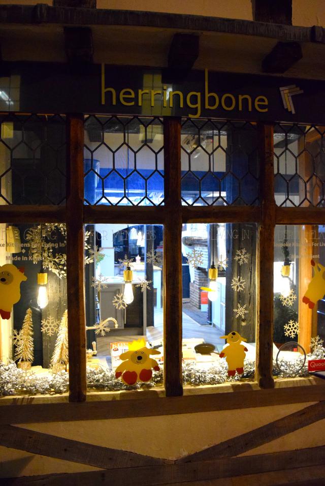 Herringbone Christmas Windows, Canterbury #christmas