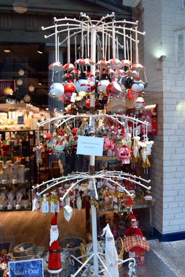 C&H Fabrics Christmas Windows, Canterbury #christmas