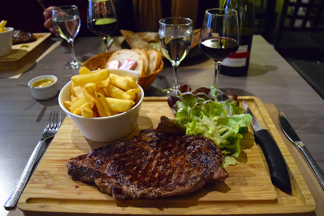 Entrecote Steak at La Cour du Temple, Combourg #steak #brittany #france